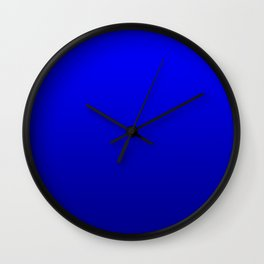 Bright Cobalt and Dark Blue Ombre Wall Clock