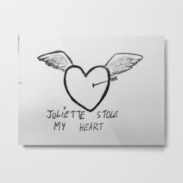 Juliette stole my heart Metal Print