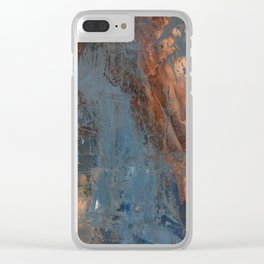 Human and Blue Clear iPhone Case