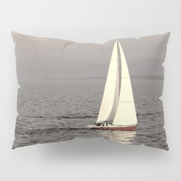 Sailing boat on the lake Pillow Sham