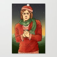 sam winchester Canvas Prints featuring Sam Winchester by Sandstiel