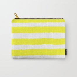 Have a Great Day Yellow Stripe Print Carry-All Pouch