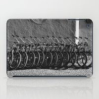 bikes iPad Cases featuring Waiting bikes by Julius Marc