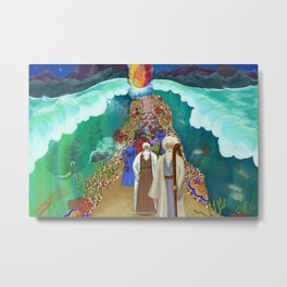 Red Sea Crossing Metal Print