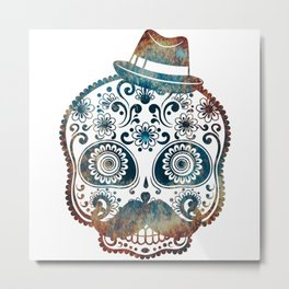 Mr. Fire Sugar Skull - worst nightmare Metal Print