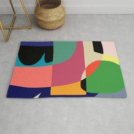 Framed Abstract Wall Art, Modern Art Print, Mid Century Modern Rug