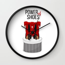 Power of shoes Wall Clock