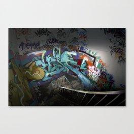 Abondoned factory graffiti Canvas Print