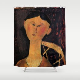 "Amedeo Modigliani ""Beatrice Hastings"" 1915 Shower Curtain"