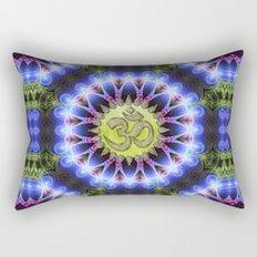 Om Shanti Fractal Geometry series #1 Rectangular Pillow