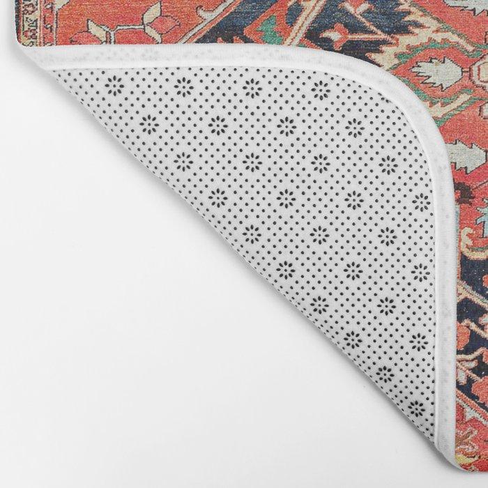Heriz Azerbaijan Northwest Persian Rug Print Bath Mat