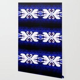 Swans in Love (dark blue-vibrant) Wallpaper
