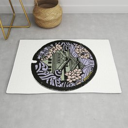 Kyoto Manhole Sewer Cover Rug