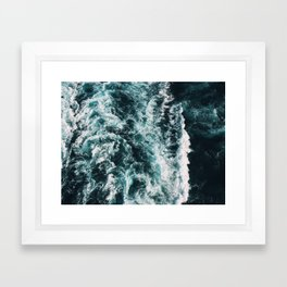 Green Seas, Yes Please Framed Art Print