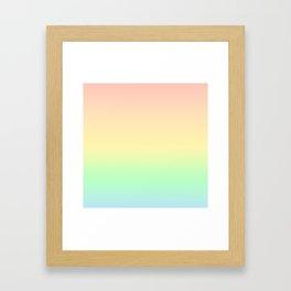 Pastel Rainbow Pattern Framed Art Print