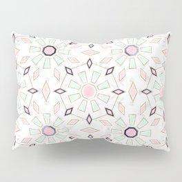 Modern gold Moroccan geometric flower marble image Pillow Sham