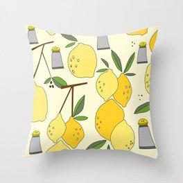 salt and lemon Throw Pillow