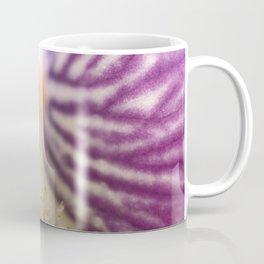Purple Iris Petals and Yellow Stamen Macro Photography_2 Coffee Mug