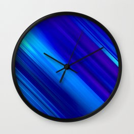 Abstract watercolor colorful lines painting Wall Clock