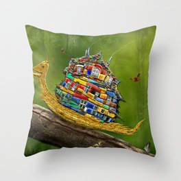 Forest Hike Throw Pillow