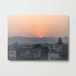 Sun Peaks Over The Horizon Metal Print