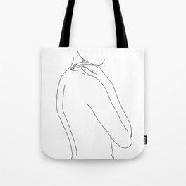 Nude woman illustration - Juliet Tote Bag