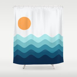 Abstract Landscape 14 Shower Curtain