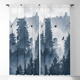 Amazing Forest Morning Nature Photography Blackout Curtain