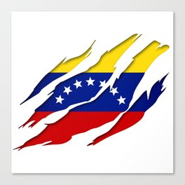 Venezuela Scratch Design Canvas Print