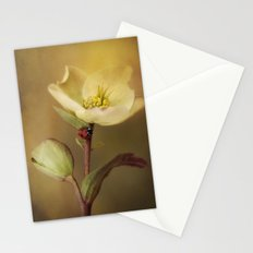 Ladybird on flower Stationery Cards