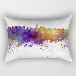 Asuncion skyline in watercolor background Rectangular Pillow