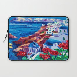 Santorini churches Laptop Sleeve