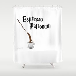 Espresso Patronum design Shower Curtain