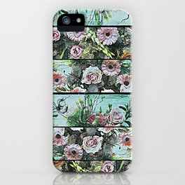 Romantic Rococo wood panel iPhone Case