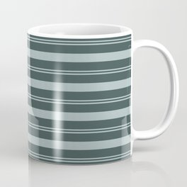 Blue Willow Green PPG1145-4 Thick and Thin Horizontal Stripes on Night Watch PPG1145-7 Coffee Mug