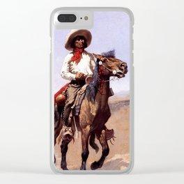"Frederic Remington Western Art ""A Regimental Scout"" Clear iPhone Case"