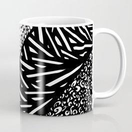 Free Hand Ink Black Doodle Design Coffee Mug