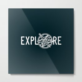 Explore Dark Metal Print