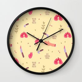 You're What You Eat Wall Clock