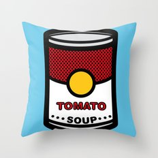 Warhol's Tomato Soup Throw Pillow
