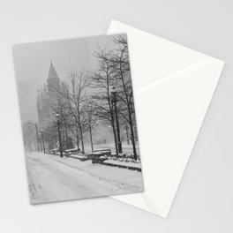 Toronto Flatiron Building in Winter Stationery Cards