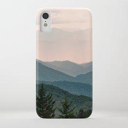Smoky Mountain Pastel Sunset iPhone Case