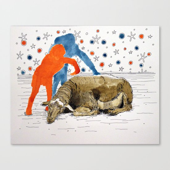 Blue & Orange Dream Canvas Print