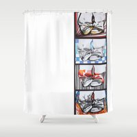 converse Shower Curtains featuring Converse by Creo