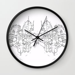 city structure Wall Clock