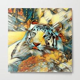 AnimalArt_Tiger_20170603_by_JAMColorsSpecial Metal Print