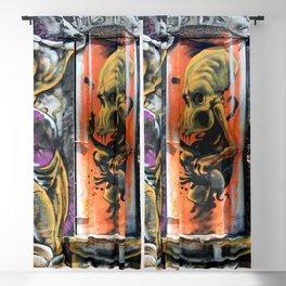 Alien Graffiti  Blackout Curtain