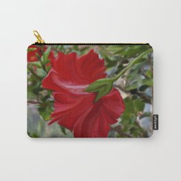 Abstract Hibiscus Carry-All Pouch