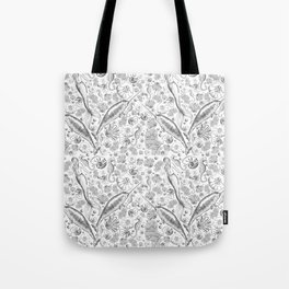Mermaid Toile - Black and white Tote Bag
