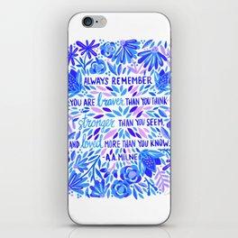 Always Remember – Indigo Palette iPhone Skin